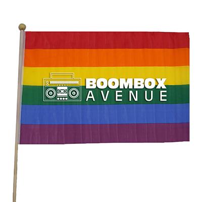 """12"""" x 18"""" Rainbow Cloth Flags"""