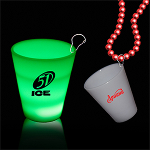Light-Up Shot Glass Bead Necklaces