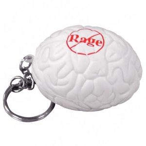 Brain Shaped Key Chain