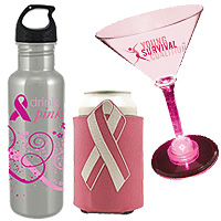 Custom Breast Cancer Awareness Drinkware