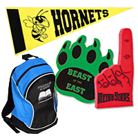 School Spirit Items and Backpacks