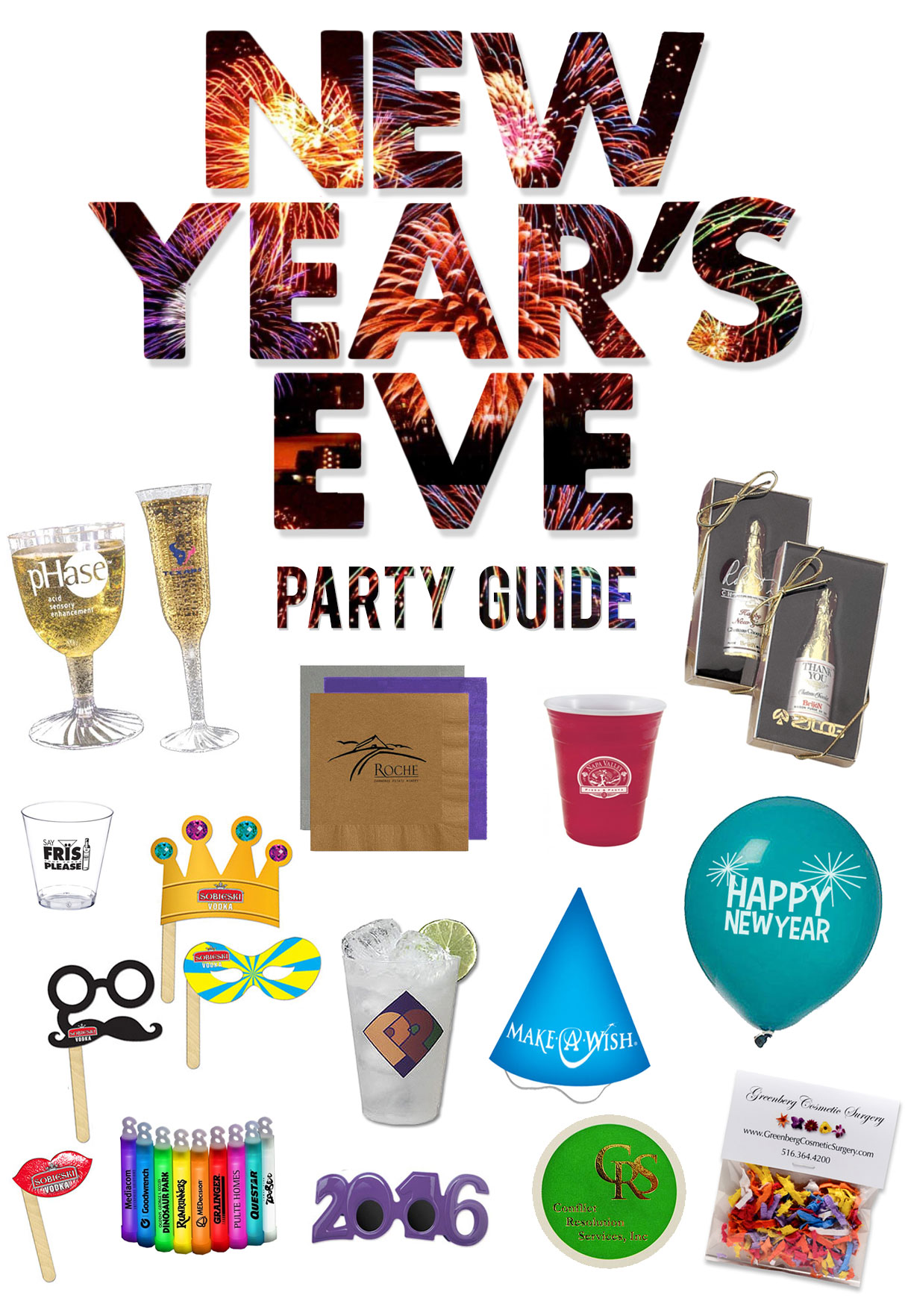 Custom Printed New Year's Eve Party Supplies