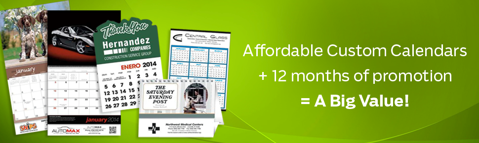 Personalized calendars, printed calendar, logo calendar, branded calendar