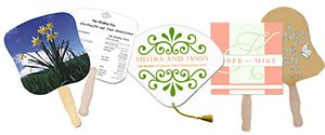 Personalized Wedding Fans
