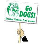 "Rally Signs with Stick 12-1/4"" x 19-1/4"""