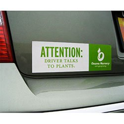 "3"" x 11-1/2"" Standard Bumper Sticker Magnets"