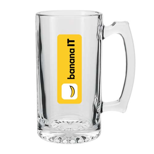 25 oz. Glass Beer Mugs