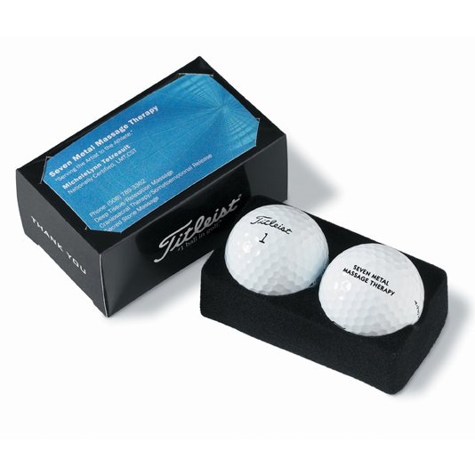 Titleist 2-Ball Business Card Boxes