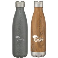 16 oz. Stainless Steel Woodtone Bottle