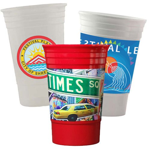 20 oz. Full Color Reusable Plastic Cups
