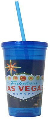 16 oz. Full Color Double Wall Tumbler with Straw and Lid