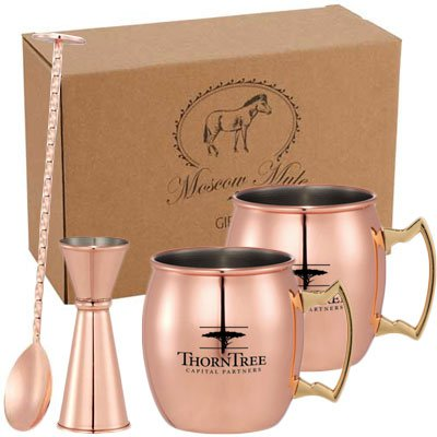 14 oz. Moscow Mule Mug 4-in-1 Gift Sets
