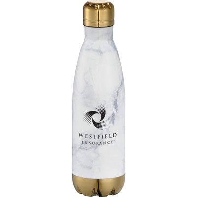 17 oz. Stainless Steel Marble Bottle