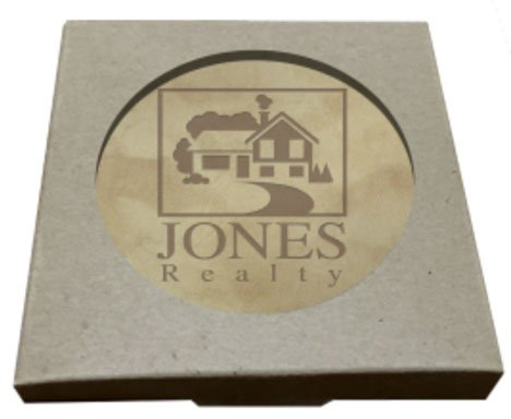 Full Grain Leather Coasters - Boxed Set of 4