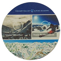 "3.5"" Round Light Weight 40 pt. Full Color Pulpboard Coasters"