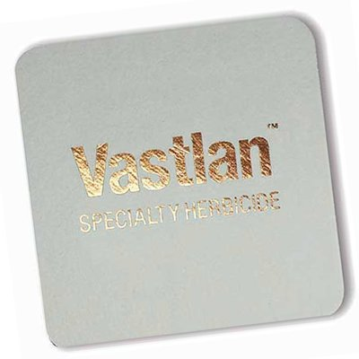 "4"" Square Light Weight 40 pt. Foil Stamped Pulpboard Coasters"
