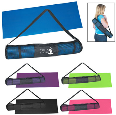 Yoga Mat and Printed Carrying Case