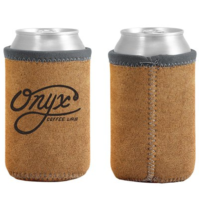 Suede-ish Neoprene Can Holders - Custom Trim