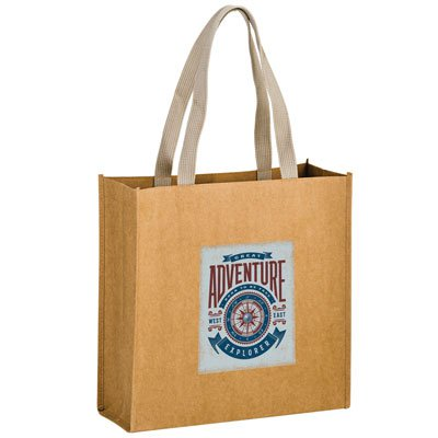 13 x 15 Premium Washable Kraft Paper Fabric Tote Bags