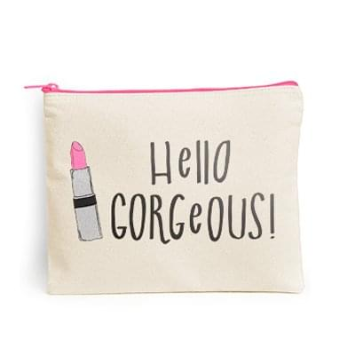 "11"" x 8.75"" Canvas Cosmetic Bag - Custom Zipper Color"