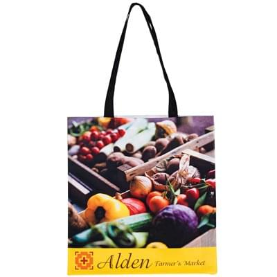 15 x 16  Non-Woven PET Sublimated Tote Bags