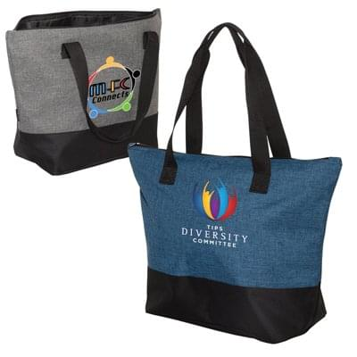 19.25 x 14 Heathered Canvas Totes