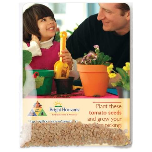 Clear Compostable Cellophane Tomato Seed Packets