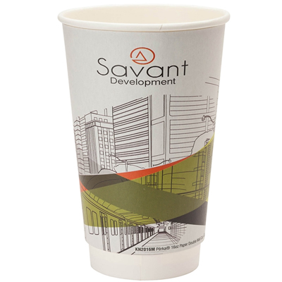 16 oz. Full Color Wrap Double Wall Insulated Paper Cups