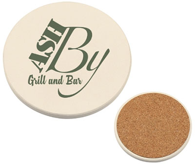 "3.5"" Round Absorbent Coasters"