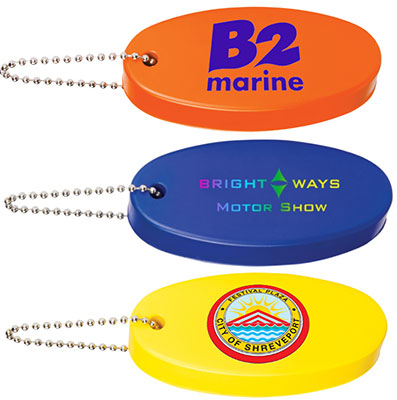 Full Color Oval Floating Keychains