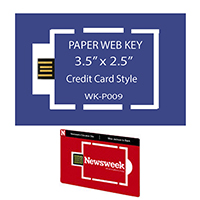 Business Card Size Paper Web Key