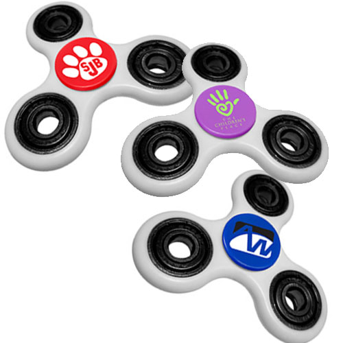 White Fidget Spinners w/ Turbo Boost