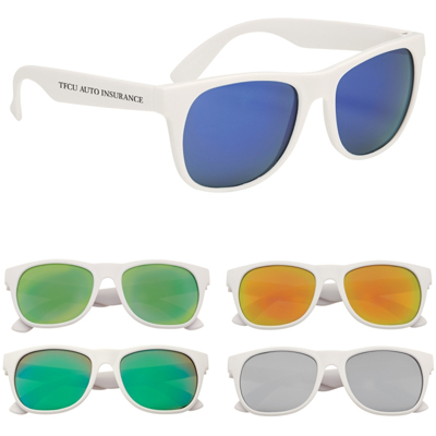 Budget Mirrored Sunglasses - Solid Frame