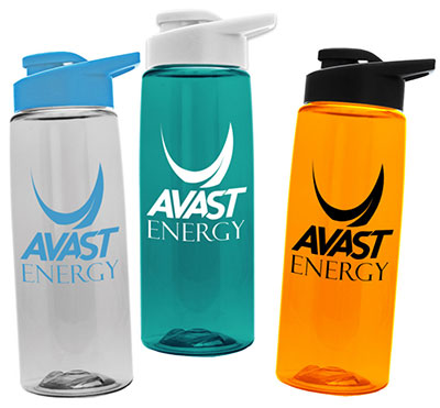 26 oz Tritan Flair Water Bottles with Drink-Thru Lid