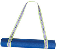 Yoga Mat Carry Strap with Woven Label