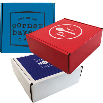 8 x 8 x 3 Pizza Style Square Top Gift Box