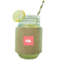 Burlap and Neoprene Mason Jar Sleeves