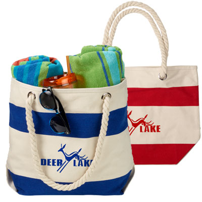 13.5 x 17.5 Cotton Canvas Boat Totes