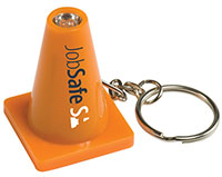 Light Up Safety Cone Key Chains