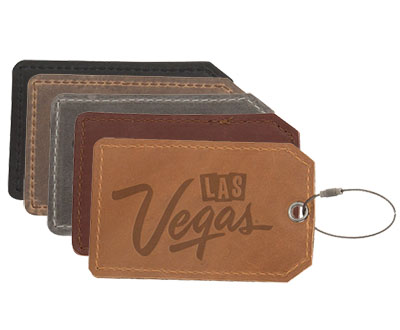 Debossed Leather Luggage Tag