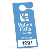 Parking Permit Hang Tags - 3 x 6.75