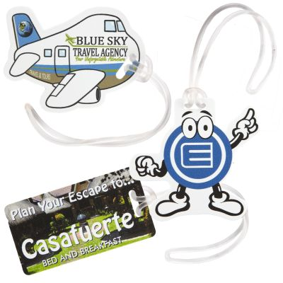 Full-Color Custom Shape Luggage Tags