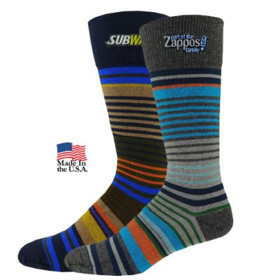 Men's Striped Dress Socks