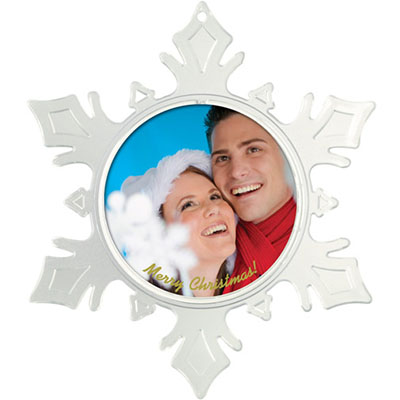 Snowflake Photo Insert Ornaments