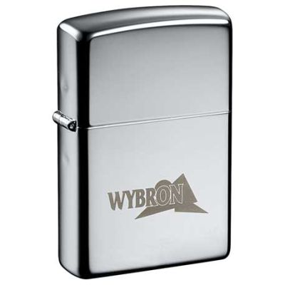 Engraved Zippo High Polished Chrome Lighters