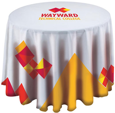 "36"" Round Polyester Poplin Table Covers"