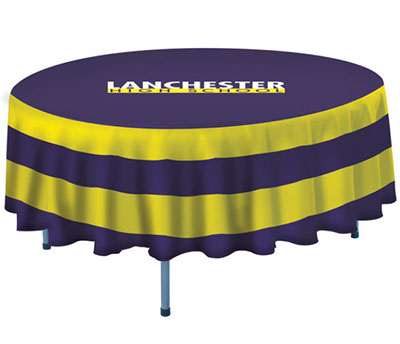 "60"" Round Polyester Poplin Table Covers"