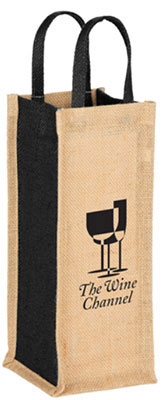 Jute Single Bottle Wine Totes