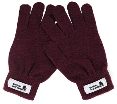 Custom Color Knit Gloves with Label Decoration