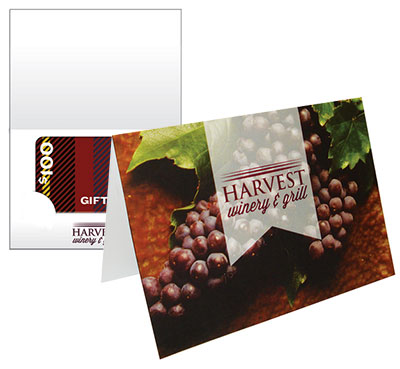 4.875 x 3.5 Full Color Greeting Gift Card Holders